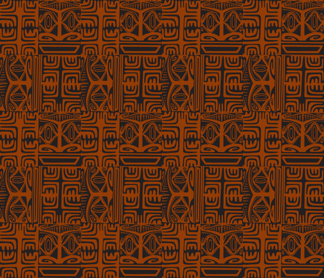 Kon Klassic  coffee fabric by sophista-tiki on Spoonflower - custom fabric