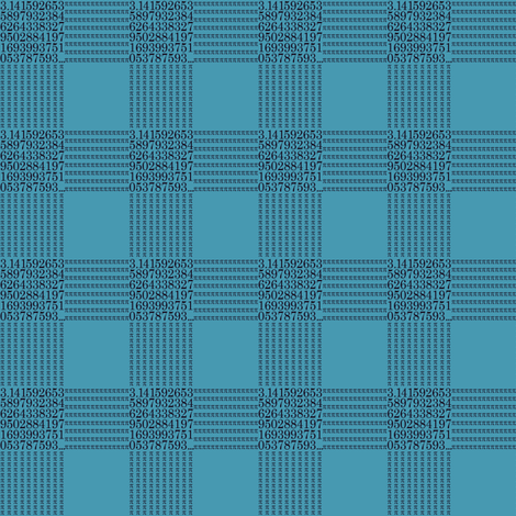 pi are square (sea blue) fabric by weavingmajor on Spoonflower - custom fabric