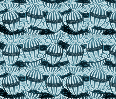 sailing in the dark fabric by kociara on Spoonflower - custom fabric