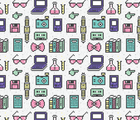 PixelGeekIcons fabric by ariel_lark_designs on Spoonflower - custom fabric