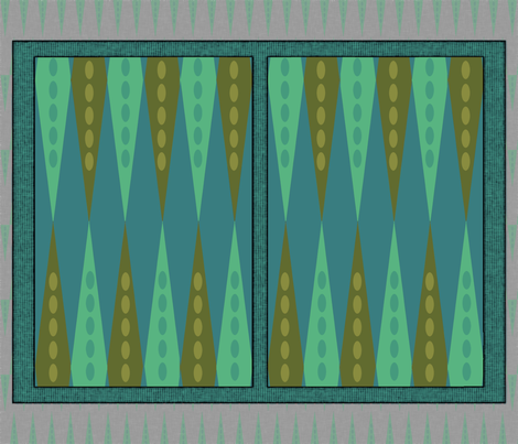 Backgammon Game Turquoise fabric by wren_leyland on Spoonflower - custom fabric