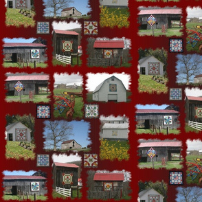 Barn Quilt Trail: on Red