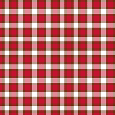 plaid red shadow fabric by khowardquilts on Spoonflower - custom fabric