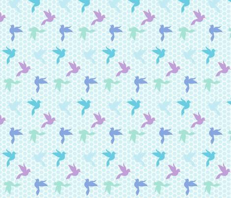 Sweet Honey Hummingbirds! - Desert Night - Desert Night Hex - © PinkSodaPop 4ComputerHeaven.com fabric by pinksodapop on Spoonflower - custom fabric