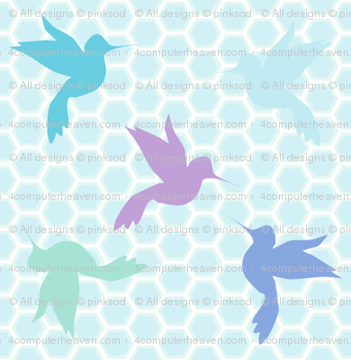 Sweet Honey Hummingbirds! - Desert Night - Desert Night Hex - © PinkSodaPop 4ComputerHeaven.com