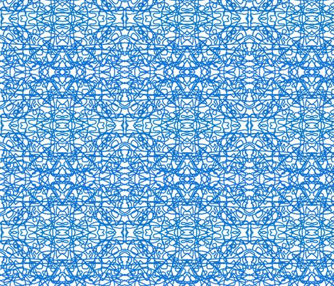 Bavarian blue rope on white