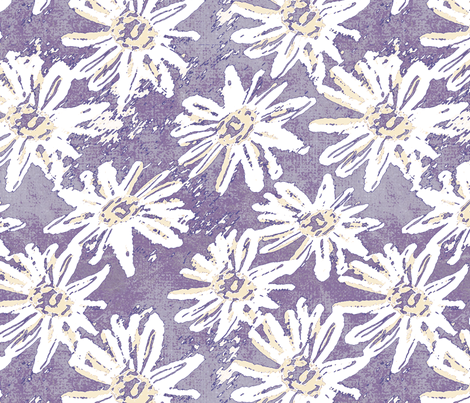 Daisy Wash - Plum fabric by kristopherk on Spoonflower - custom fabric