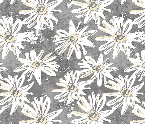 Daisy Wash - Grey fabric by kristopherk on Spoonflower - custom fabric