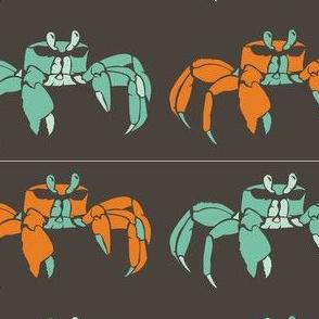 Blue and Orange Crabs