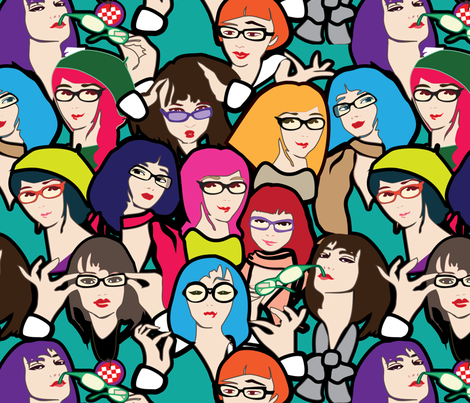 Geek but chic fabric by lilola on Spoonflower - custom fabric