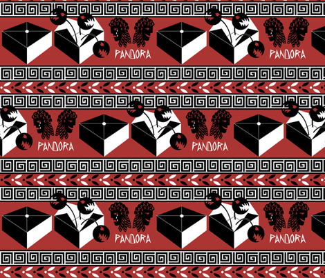 Pandora's Box fabric by glimmericks on Spoonflower - custom fabric