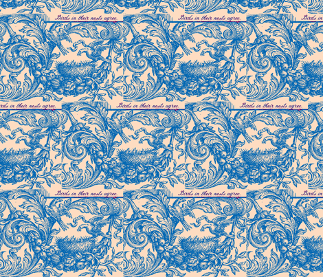 Birds in Nests fabric by amyvail on Spoonflower - custom fabric