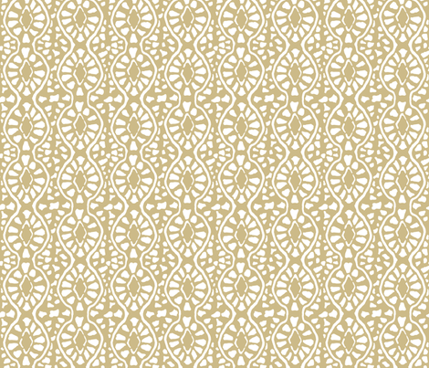 Cobblestone Trellis Sand fabric by lulabelle on Spoonflower - custom fabric