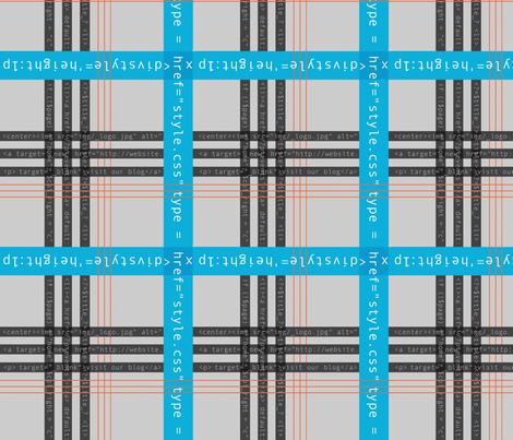 Geek Chic Plaid with Code fabric by amygranger on Spoonflower - custom fabric