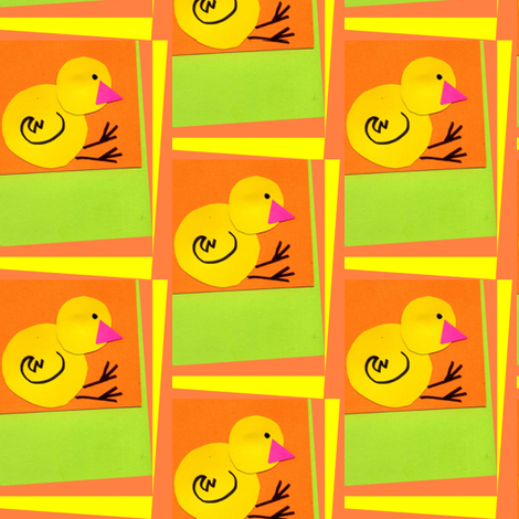At First Peep fabric by edsel2084 on Spoonflower - custom fabric