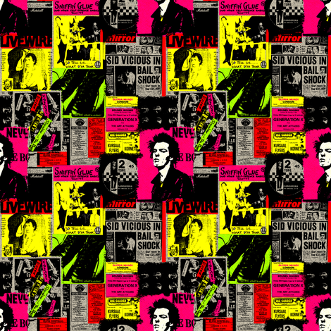 punk beige background fabric by susiprint on Spoonflower - custom fabric