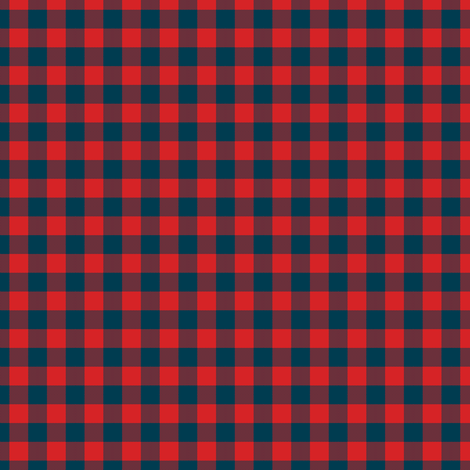 plaid_5_ even check red and blue fabric by khowardquilts on Spoonflower - custom fabric