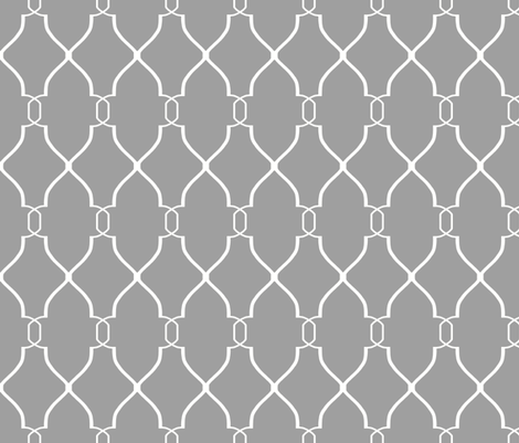 Laura Trellis in Cashmere Gray fabric by willowlanetextiles on Spoonflower - custom fabric