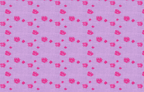 Lovely Linens (Fuchsia and Periwinkle) fabric by vanillabeandesigns on Spoonflower - custom fabric