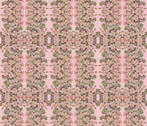 Apple Blossoms Ropes in a mirror repeat stripe fabric by anniedeb on Spoonflower - custom fabric