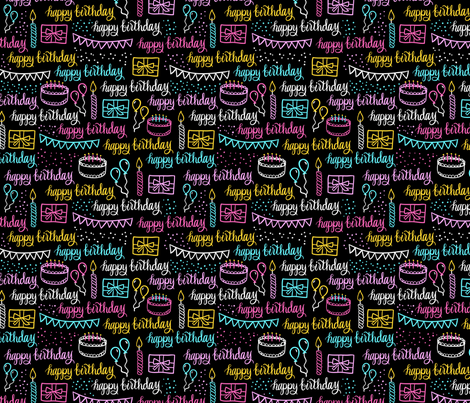 Birthday fabric by kristinnohe on Spoonflower - custom fabric