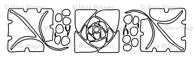 Type Ornaments-1 leaf-mckintosh-rose outlines