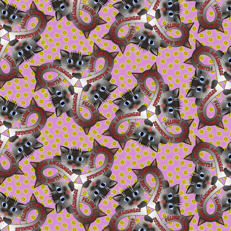 feline lymphoma awareness fabric by glimmericks on Spoonflower - custom fabric