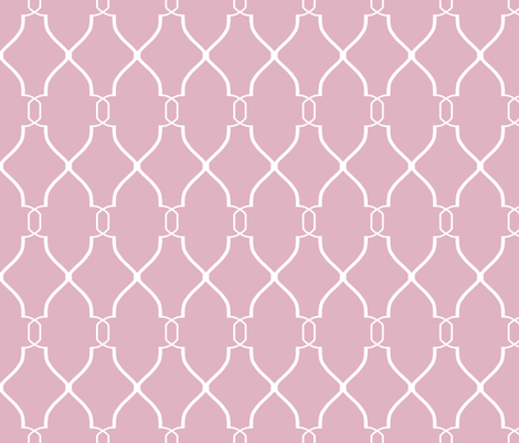 Laura Trellis in Hydrangea fabric by sparrowsong on Spoonflower - custom fabric