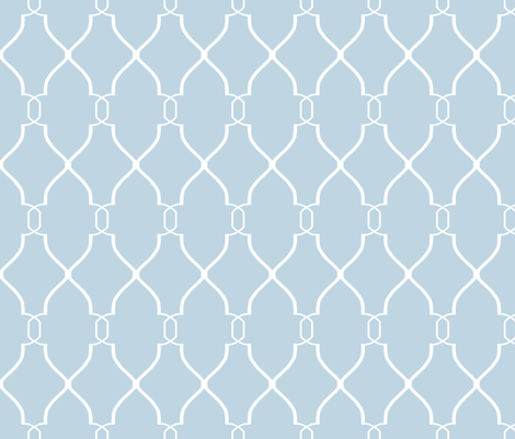 Blue Laura Trellis fabric by willowlanetextiles on Spoonflower - custom fabric