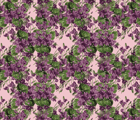 Violet Explosion fabric by anniedeb on Spoonflower - custom fabric