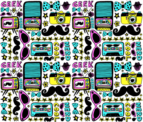 Geek Chic Is Nerd Cool fabric by super_hoot on Spoonflower - custom fabric