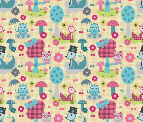 Geeky_wonderland fabric by jlwillustration on Spoonflower - custom fabric