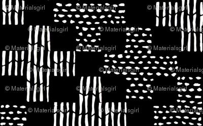 sticks & stones - black and white