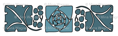Type-ornaments-1 leaf mckintosh-rose-195-blue