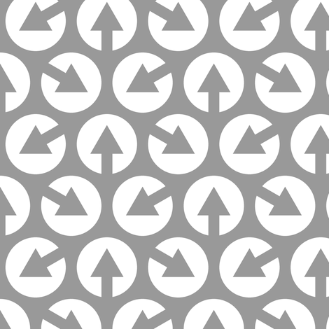 mod arrow dots 3m heads fabric by sef on Spoonflower - custom fabric
