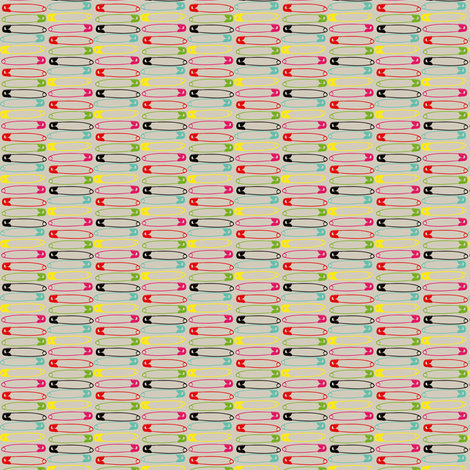 safety_pins_colours fabric by sydama on Spoonflower - custom fabric
