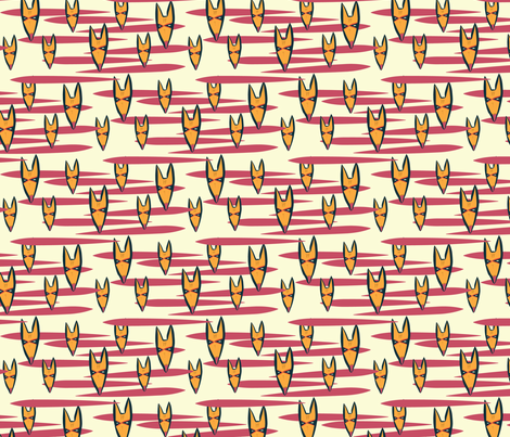 Fox Tribal Mask fabric by joyfulroots on Spoonflower - custom fabric