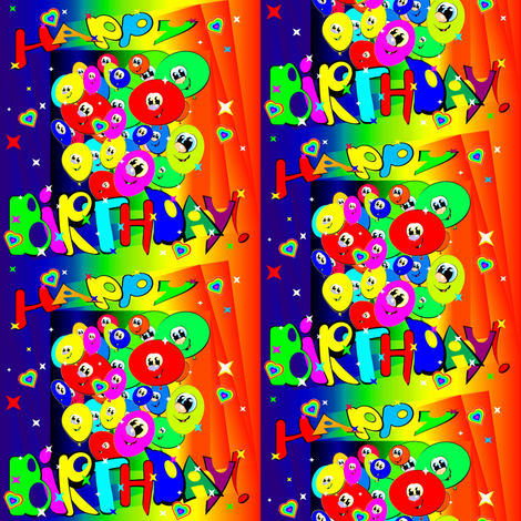 Happy Birthday fabric by retroretro on Spoonflower - custom fabric