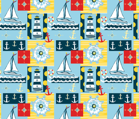 Come Sail Away fabric by arttreedesigns on Spoonflower - custom fabric