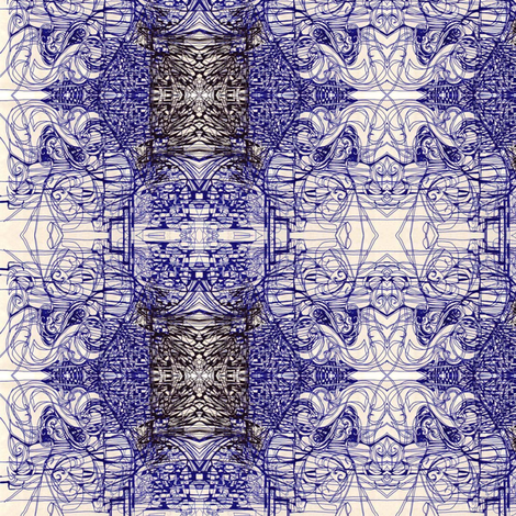 bluepen2 fabric by maryo on Spoonflower - custom fabric