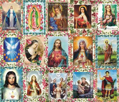 Catholic Saints and Images Collage