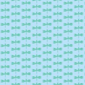 DragonflyZip - sm - deep green & light blue