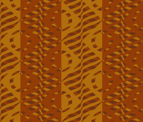 Just Me and My Helix earthen fabric by glimmericks on Spoonflower - custom fabric