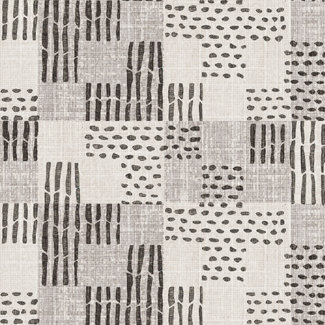 sticks & stones - charcoal, gray fabric by materialsgirl on Spoonflower - custom fabric
