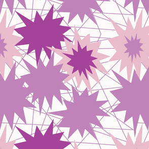 pinkish stars