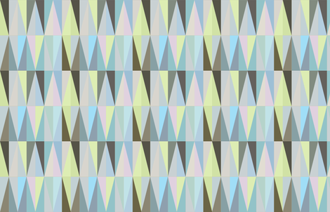 brighter spring geometry  fabric by saltlabs on Spoonflower - custom fabric