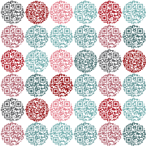 Spot the QR code fabric by ebygomm on Spoonflower - custom fabric