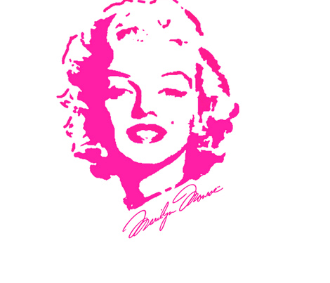 Marilyn_Monroe_Festival_Logo fabric by artsharyne on Spoonflower - custom fabric