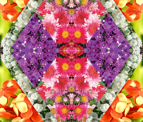 floral fabric by alicewark on Spoonflower - custom fabric