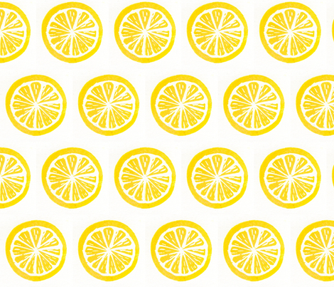 LEMON fabric by nancy'sdesigns on Spoonflower - custom fabric